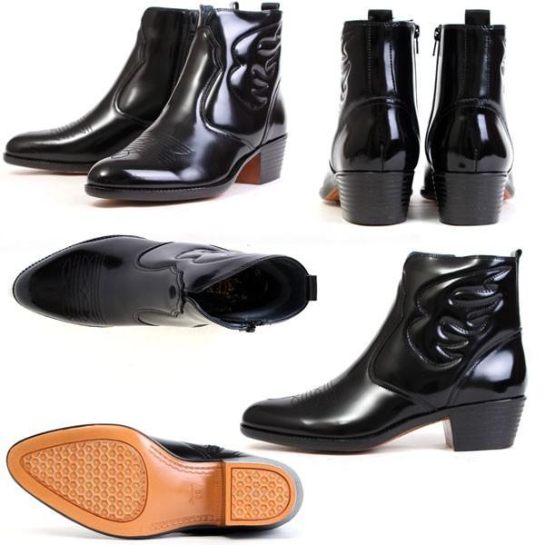 メンズ  ブーツ レザーブーツ ウエスタンブーツ メンズブーツ カジュアルブーツ キングサイズ 日本製 本革 はっ水 3E TEXASVIRREGE テキサスヴィレッジ 5521|pennepenne|05
