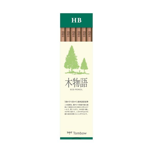 S木物語 森林認証鉛筆 ダース HB 1905 トンボ鉛筆 LA-KSHB