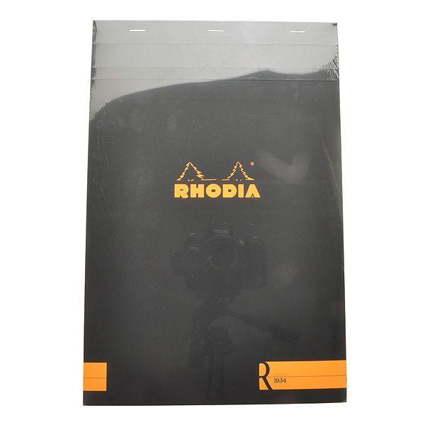 ロディア RHODIA 単品 ブロック R No.19 ブラック 横罫 cf192012 / 高級 ブランド プレゼント おすすめ 男性 女性 人気 おしゃれ