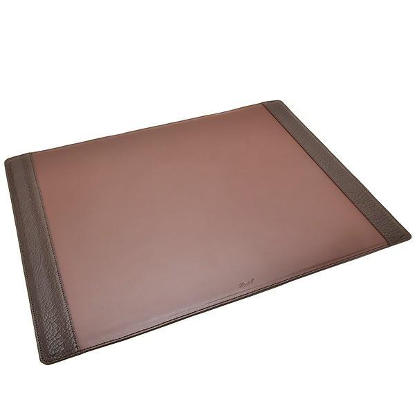 Pent〈ペント〉 Byケイシイズ 高級デスクマット アメリカンバイソン装飾 KCC032-B チョコレート(あすつく) / 高級 ブランド おすすめ おしゃれ 男性