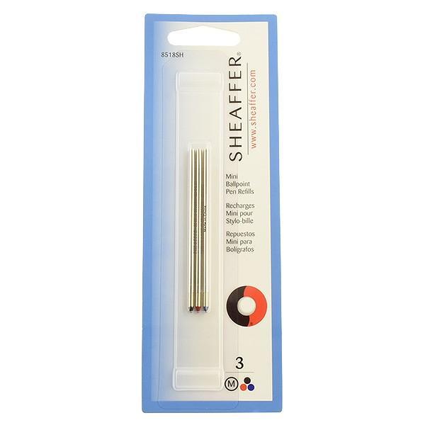 ボールペン 替芯 シェーファー SHEAFFER ボールペン芯 クアトロ用 黒赤青 M セット / ブランド / 8518SH 34867