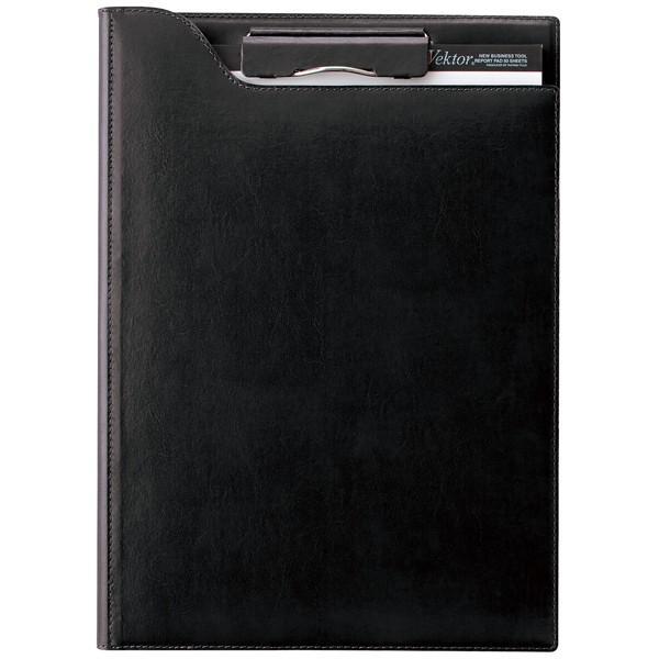 レイメイ藤井 A4 ツァイトベクター クリップファイル(再生皮革製) ZVF654B ブラック 35896 / 高級 ブランド プレゼント おすすめ 男性 女性 人気