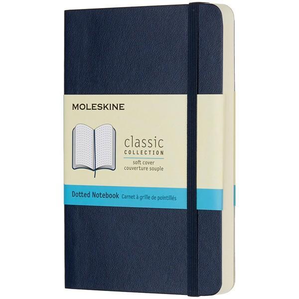 モレスキン ノートブック ポケットサイズ ソフトカバー カラー ドット 方眼 サファイアブルー QP614B20 854733 / 高級 ブランド おすすめ 男性 女性 人気
