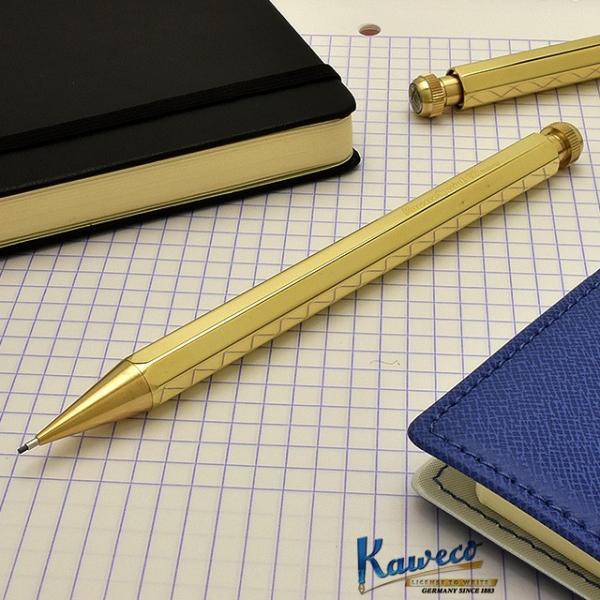 シャープペン カヴェコ 名入れ KAWECO シャーペン 0.9mm ペンシルスペシャル ブラス PS-09BR / 高級 ブランド プレゼント おすすめ 男性 女性 人気 書きやすい