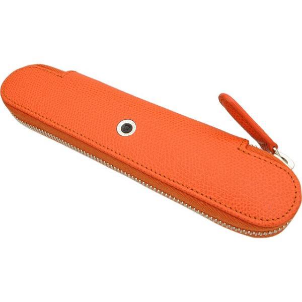 ペンケース 革 ファーバーカステル FABER-CASTELL グレインレザー 118886 1本 用 バーントオレンジ / 高級 ブランド プレゼント おすすめ