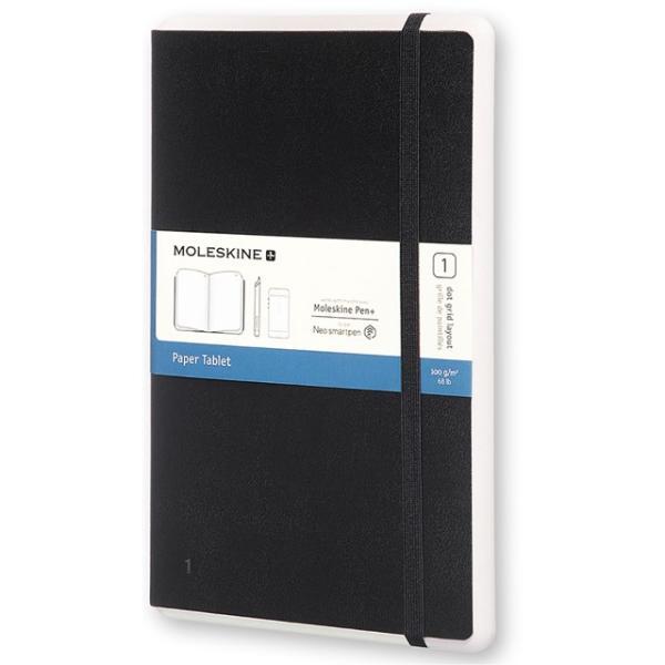 モレスキン ラージサイズ スマートライティングシステム ペーパータブレット1 PTNL34HBK01 5180103 ドット方眼 ブラック