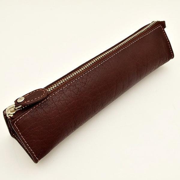 ペンケース 革 ASHFORD(アシュフォード)ディープ ペンケース 8662-022 ブラウン / 高級 ブランド プレゼント おすすめ 男性 女性