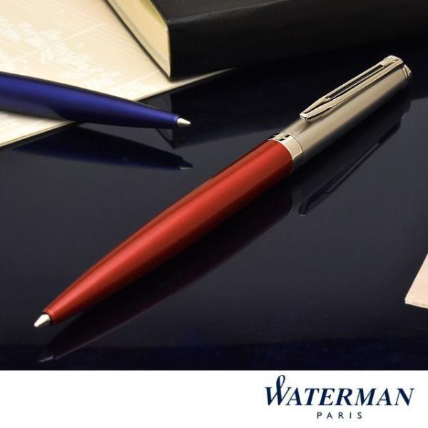 ボールペン ウォーターマン 名入れ WATERMAN メトロポリタン エッセンシャル サテンレッドCT 2146628 / 高級 ブランド プレゼント おすすめ 男性 女性
