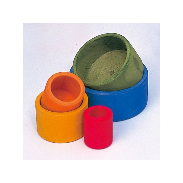 【送料無料&ポイント2倍】ドイツの木のおもちゃ/はめこ/ハメコ/ボウルのセット/青/Grimm's Spiel & Holz Design/グリム/グリムス/知育玩具|pepapape|02