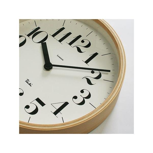 【送料無料】リキクロック/Sサイズ/太文字タイプ/壁掛け時計/Lemnos/レムノス/渡辺 力/RIKI CLOCK|pepapape|02