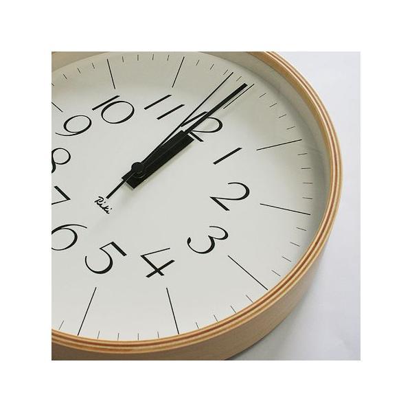 【旧タイプの為、値引き販売しています】リキクロック/Mサイズ/電波時計/細文字タイプ/壁掛け時計/Lemnos/レムノス/渡辺 力|pepapape|02