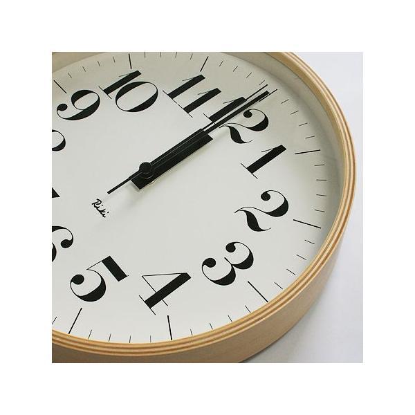 【送料無料】リキクロック/Mサイズ/電波時計/太文字タイプ/壁掛け時計/Lemnos/レムノス/渡辺 力|pepapape|02