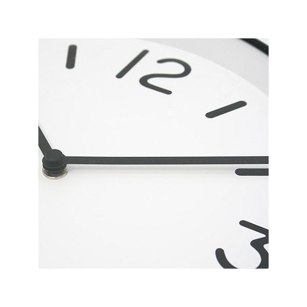 【送料無料】MONO Clock/モノクロック/ホワイト(LC10-20 A WH)/壁掛け時計/Lemnos/レムノス/奈良雄一|pepapape|03