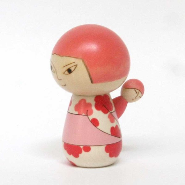 こけし/日本人/花柄/リサ・ラーソン/kokechi/オブジェ/置物/木製/ヤパンンスカ/彫刻/Lisa Larson/Japanska/Sculptures|pepapape|02