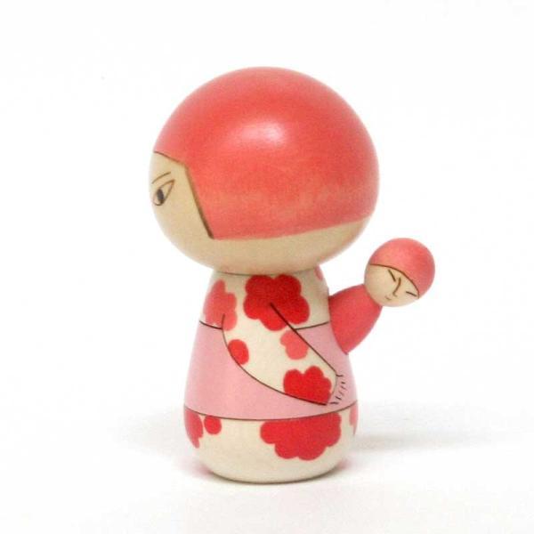 こけし/日本人/花柄/リサ・ラーソン/kokechi/オブジェ/置物/木製/ヤパンンスカ/彫刻/Lisa Larson/Japanska/Sculptures|pepapape|03