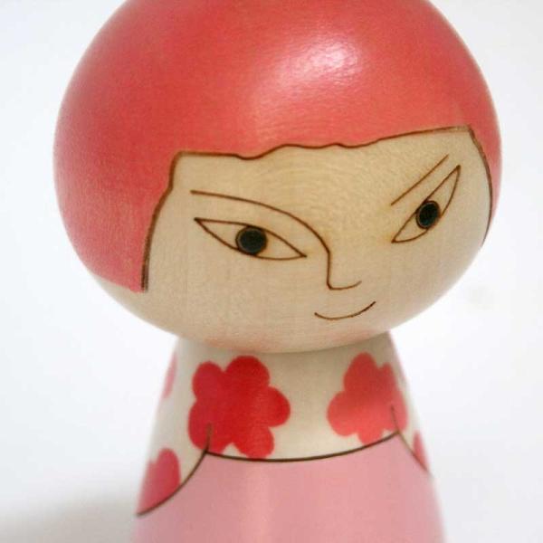 こけし/日本人/花柄/リサ・ラーソン/kokechi/オブジェ/置物/木製/ヤパンンスカ/彫刻/Lisa Larson/Japanska/Sculptures|pepapape|04