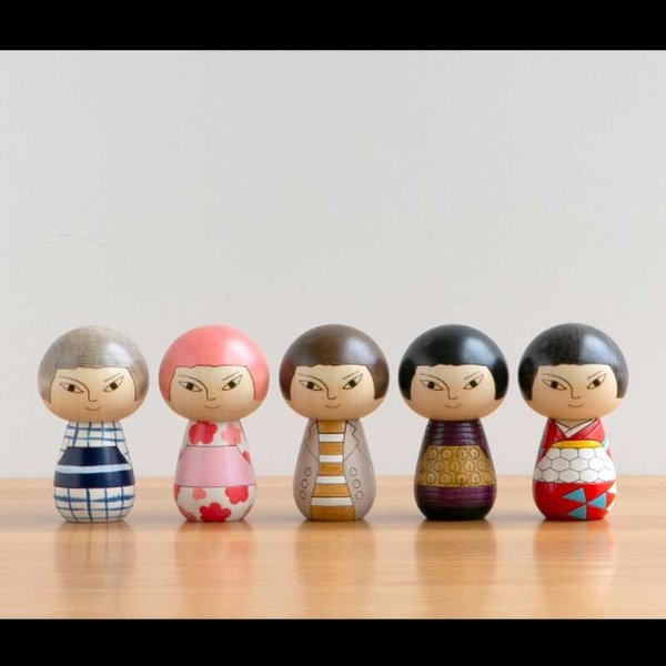 こけし/日本人/花柄/リサ・ラーソン/kokechi/オブジェ/置物/木製/ヤパンンスカ/彫刻/Lisa Larson/Japanska/Sculptures|pepapape|06