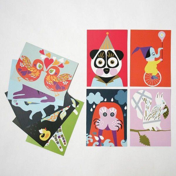 北欧フィンランドのポストカード/Squirrel/ファブリックファーム pepapape 03
