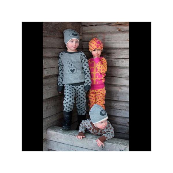【クリックポスト対応】Johanna K. Design/パンツ ゾウ(ピンク×イエロー)/ウール100%/フィンランド/子供服/オーガニック|pepapape|03