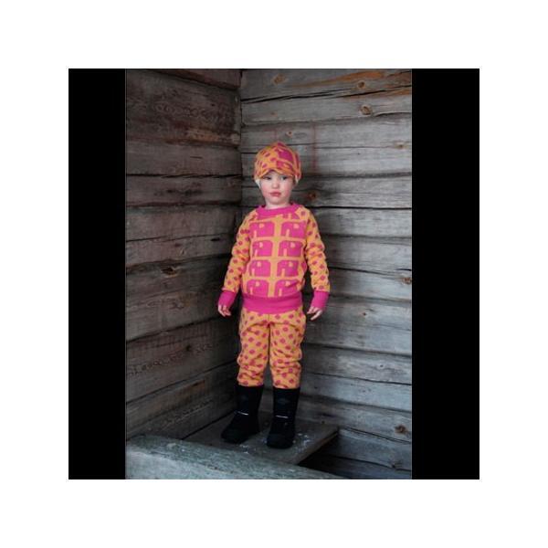 【クリックポスト対応】Johanna K. Design/パンツ ゾウ(ピンク×イエロー)/ウール100%/フィンランド/子供服/オーガニック|pepapape|04