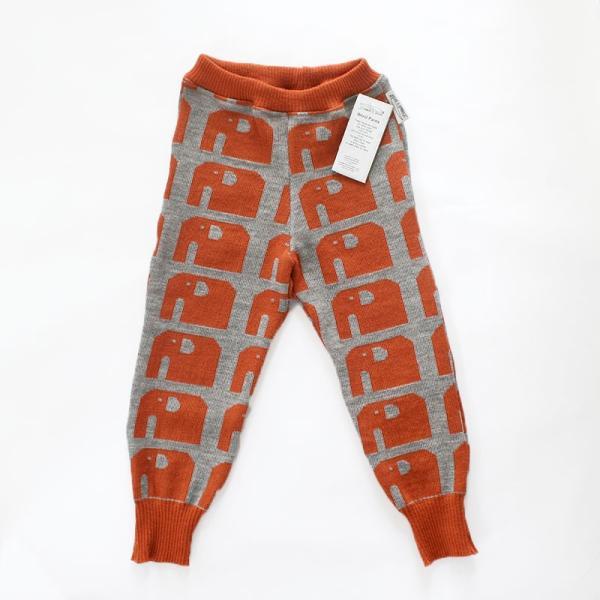 【クリックポスト対応】Johanna K. Design/パンツ ゾウ(ライトブラウン×グレー)/ウール100%/フィンランド/子供服/オーガニック|pepapape