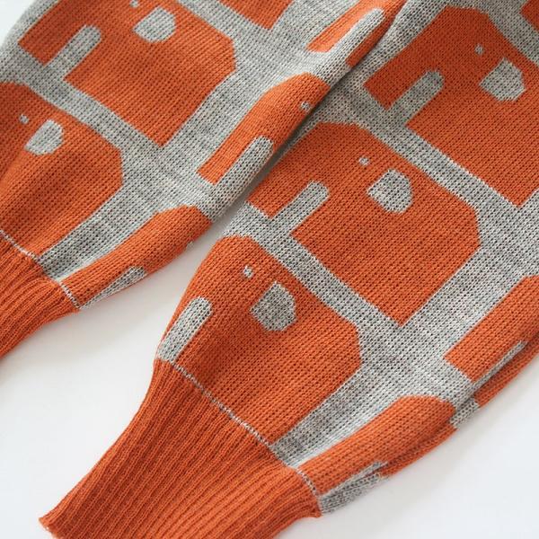 【クリックポスト対応】Johanna K. Design/パンツ ゾウ(ライトブラウン×グレー)/ウール100%/フィンランド/子供服/オーガニック|pepapape|02