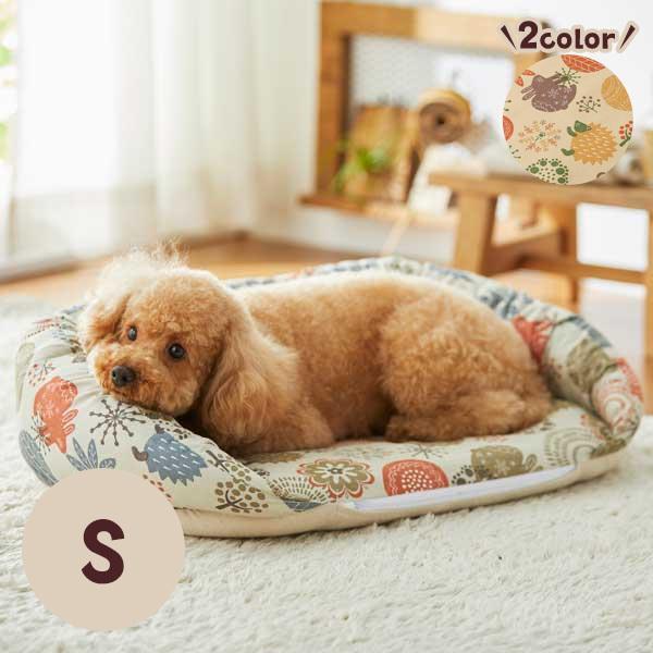 リバーシブルあごのせベッド S 犬 いぬ ベッド ふかふか かわいい リバーシブル 2WAY 秋 冬 シニア ペット ペピイ PEPPY