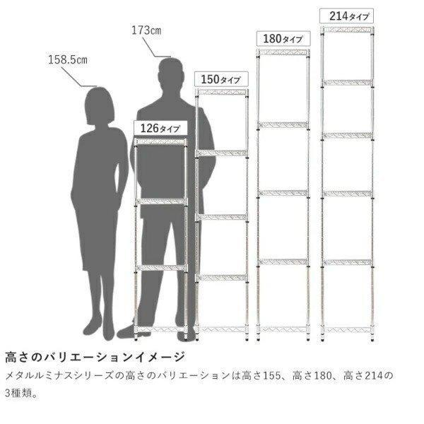 [1000円offクーポン配布中][25mm] ルミナス メタルルミナス スチールラック 幅60 奥行46 高さ150 4段 EL25-60154 perfect-space 17