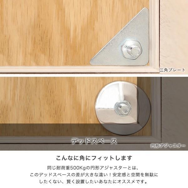 [25mm] ルミナス 三角プレート スチールラック 高さ0.8cm 4個 パーツIL-A2-2 perfect-space 04