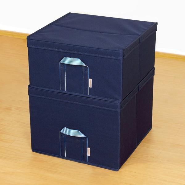[共通] ルミナス 収納ボックス フタ付き スチールラック 幅54 奥行43 高さ21 アイボリー/ネイビー パーツ LSB5443 perfect-space 09