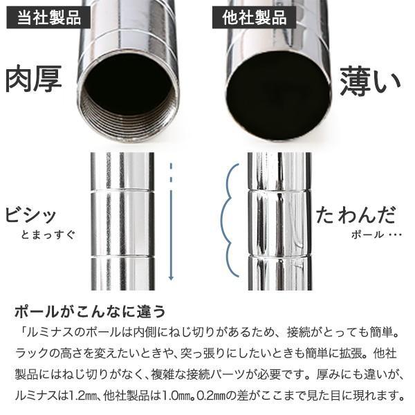 [25mm] ルミナスレギュラー スチールラック 幅180 奥行46 高さ155 4段 NLH1815-4 perfect-space 20