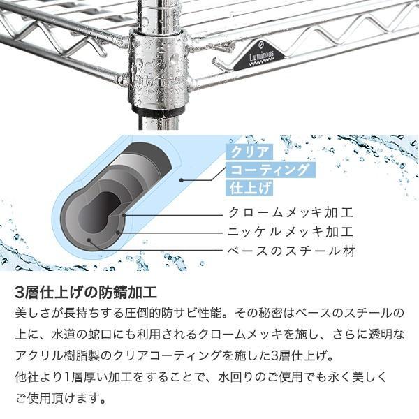 [25mm] ルミナスレギュラー スチールラック 幅180 奥行46 高さ180 5段 NLH1818-5|perfect-space|05
