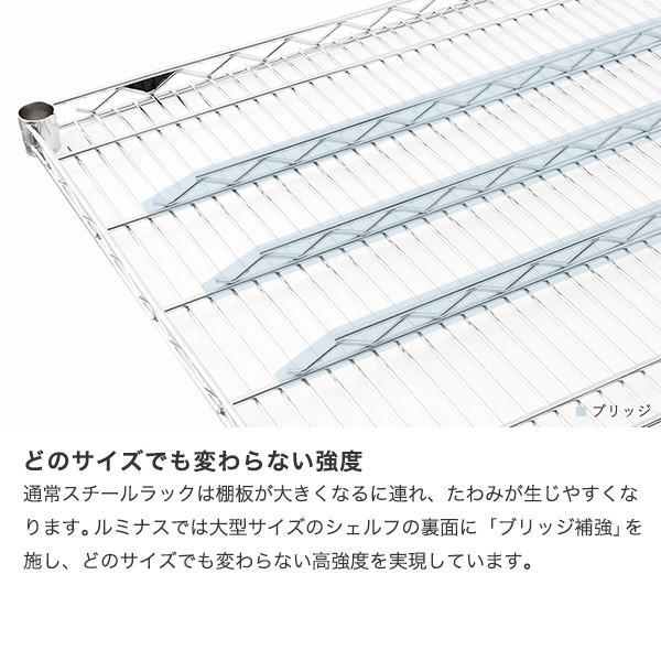 [25mm] ルミナスレギュラー スチールラック 幅180 奥行46 高さ180 5段 NLH1818-5|perfect-space|09