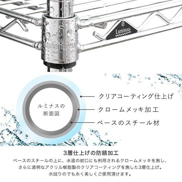 [25mm] ルミナス シェルフ スチールラック 幅107 奥行60 パーツ SR10760 perfect-space 04