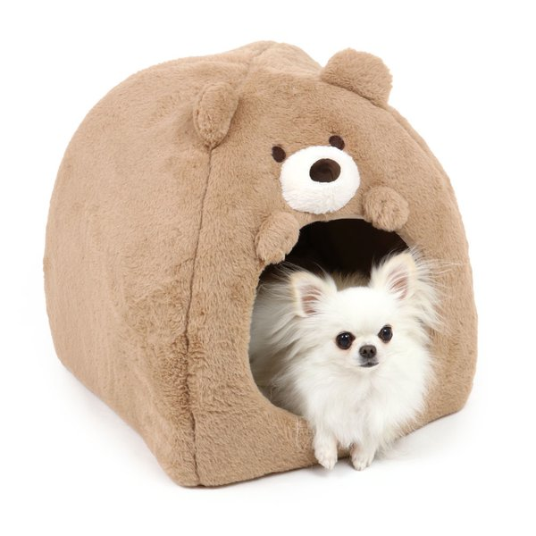 犬 猫 ペット ハウス ドーム ベッド ペットベッド 小型犬 かわいい くまハウス (38×40cm) 小 室内用 ペットハウス ふわふわ ソファ カドラー おしゃれ