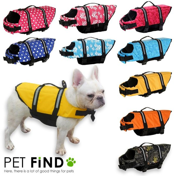 |犬用ライフジャケット ライフベスト 小型犬 中型犬 犬用浮き輪 マジックテープ  浮き輪 海や川の…