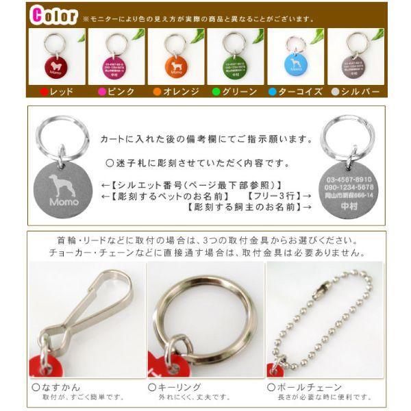迷子札 犬猫用 No.610Wサークル型「両面彫刻」ポップカラーアルミ製|petgp|04