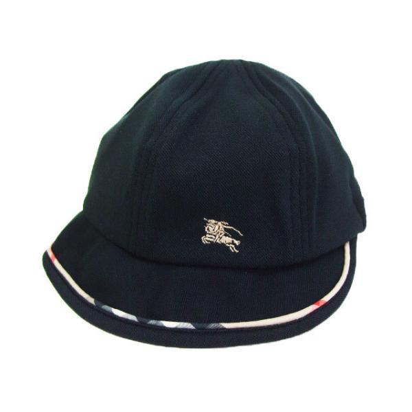 a08e5d06d8bfb バーバリーロンドン BURBERRY LONDON♪ノバチェックパイピングがお洒落♪ブランドUV帽子 黒/
