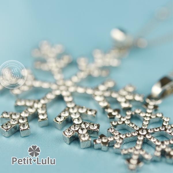 ネックレス レディース 雪の結晶 二連 ロングネックレス ダイヤモンドCZ 18K 18金RGP|petit-lulu|04