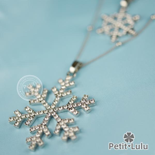 ネックレス レディース 雪の結晶 二連 ロングネックレス ダイヤモンドCZ 18K 18金RGP|petit-lulu|05
