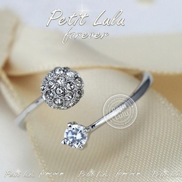 リング レディース/指輪 ダイヤモンドCZ /ファランジリング/C型リング フォークリング/かわいすぎる リング/18kRGP 二色展開|petit-lulu|05