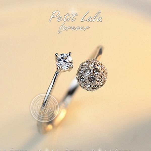 リング レディース/指輪 ダイヤモンドCZ /ファランジリング/C型リング フォークリング/かわいすぎる リング/18kRGP 二色展開|petit-lulu|06