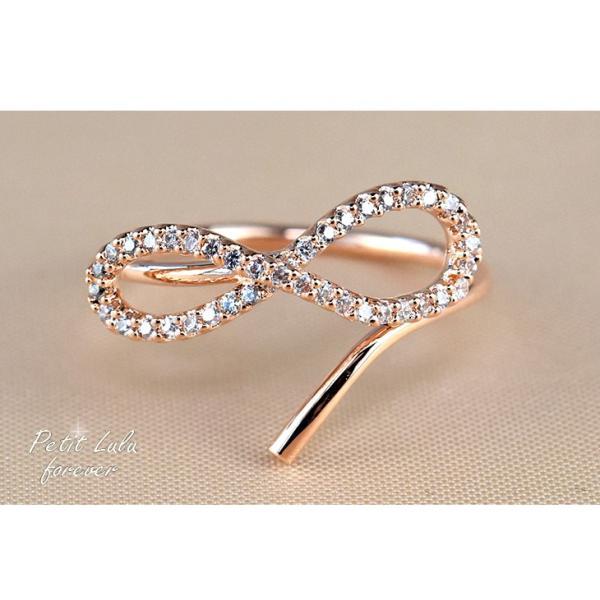 指輪 レディース リング ダイヤモンドCZ メビウスの輪 永遠の絆 18金RGP 2色展開|petit-lulu|08