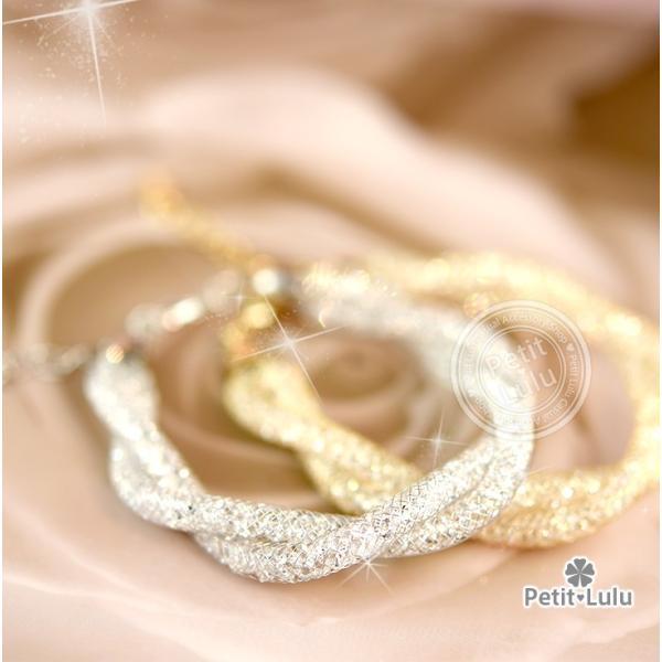 ブレスレット レディース AAA級ダイヤモンドCZ メッシュ スパイラル 300石 2連 k18 18金RGP 18k 2色展開|petit-lulu|15