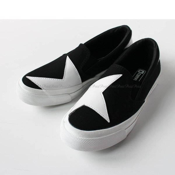 Converse(コンバース) SKIDGRIP BS SLIP-ON スター柄 スリッポン[モノトーン]