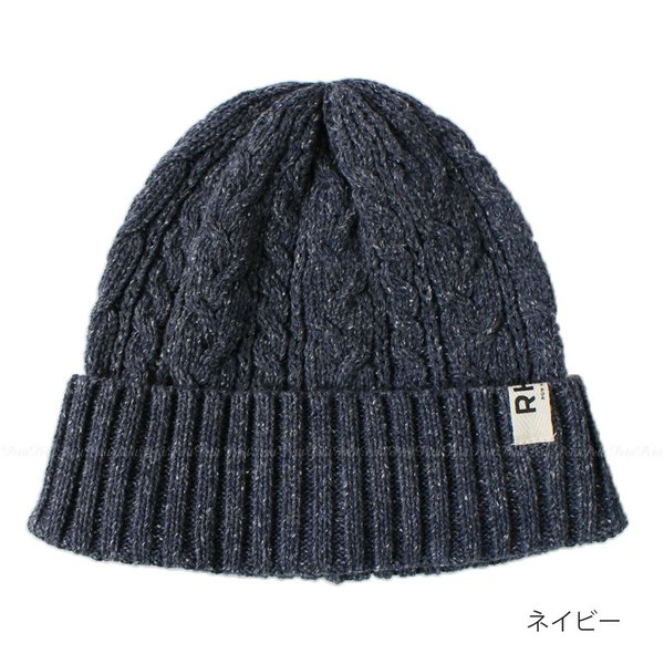 RHC Ron Herman ロンハーマン ロゴタグ付 ニット ビーニー 帽子 編み込み|petit-petit|03