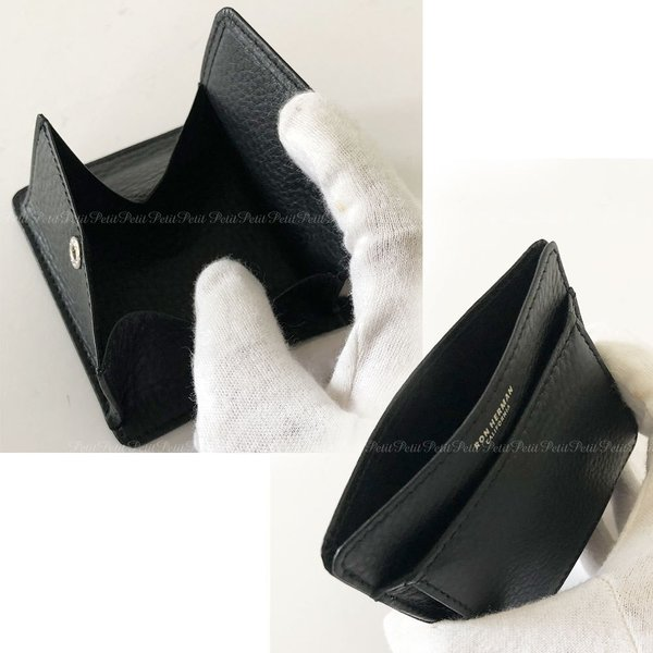 Ron Herman ロンハーマン 便利でかっこいい 黒レザー コイン+カードケース 小銭入れ  財布 ギフト箱入り|petit-petit|02
