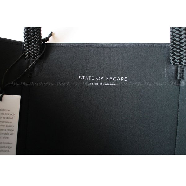 RHC Ron Herman ロンハーマン  STATE OF ESCAPE トートバッグ  Mr.CITY ブラック|petit-petit|02