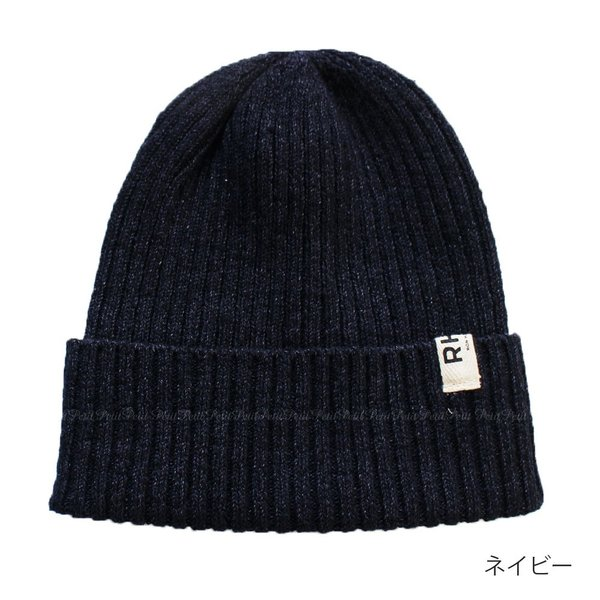 RHC Ron Herman(ロンハーマン) ロゴタグ付 ニット ビーニー 帽子 リブ編み コットン petit-petit 02
