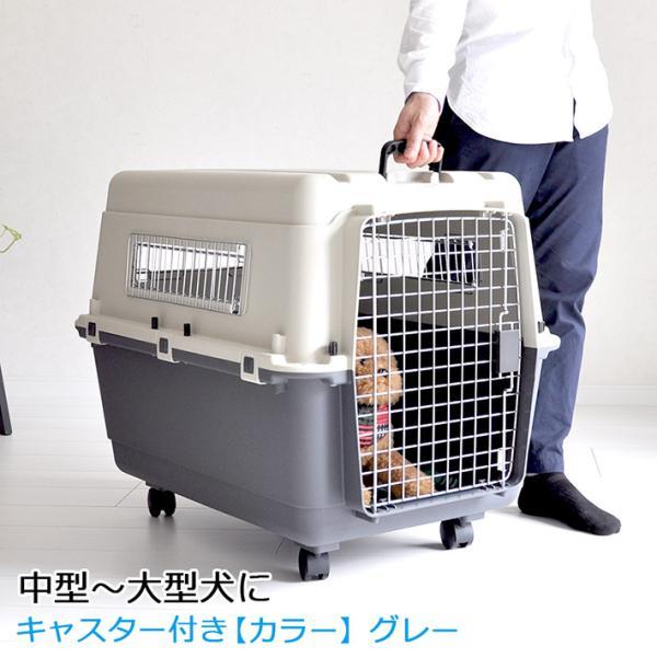 ペットキャリー DX80 犬 中型犬 大型犬 キャスター付 キャリーケース クレート ハードキャリー キャリーバッグ  返品キャンセル不可